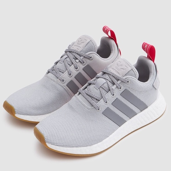 5399415fa740 Adidas Women s NMD R2 Sneakers Gray Shock Pink
